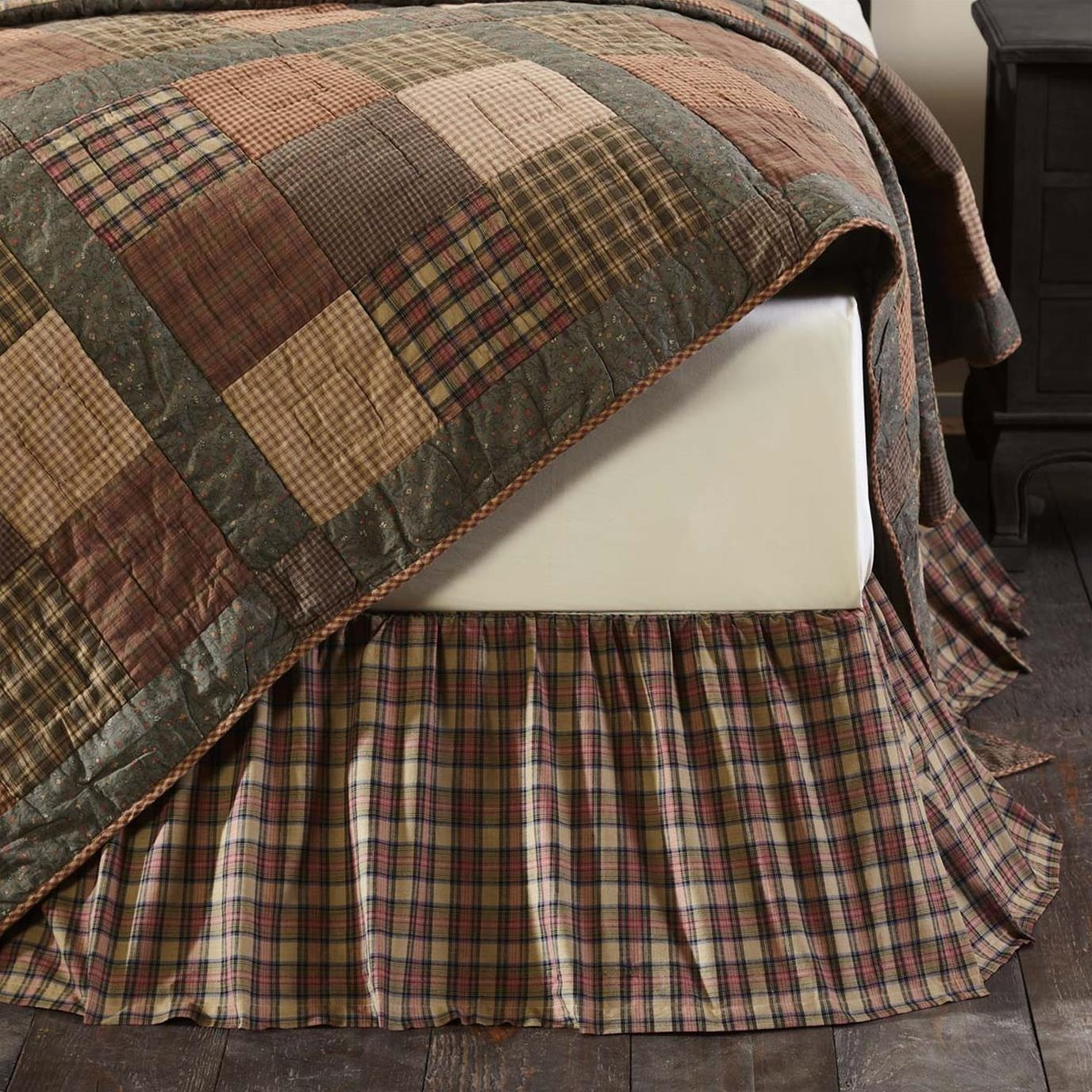 Crosswoods Twin Bed Skirt 39x76x16