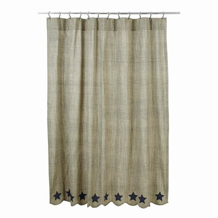 Vincent Scalloped Shower Curtain