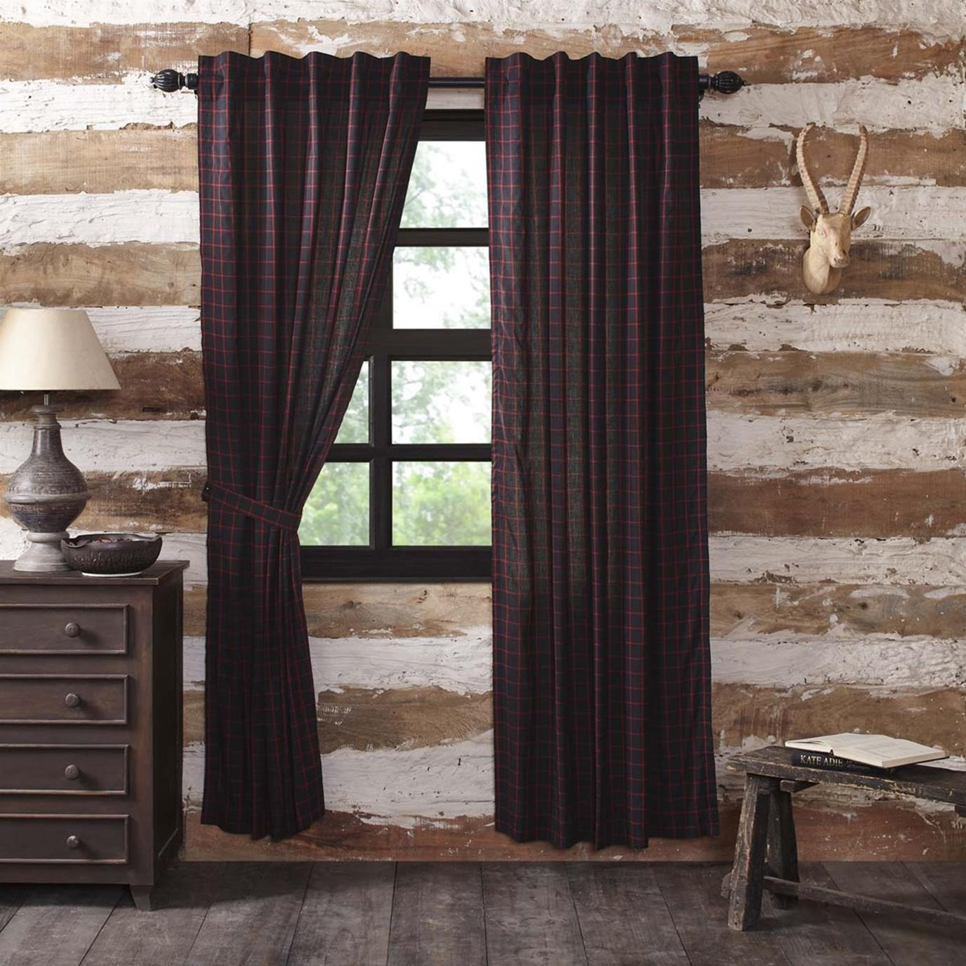 Glennock Plaid Panel Set of 2 84x40