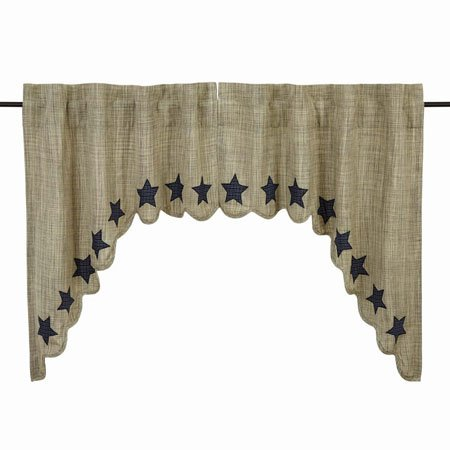 "Vincent Scalloped Swag Set of 2 36""x36"""