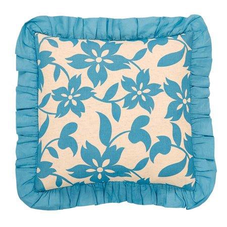 "Briar Azure Pillow W/Down Fill 18""x18"""