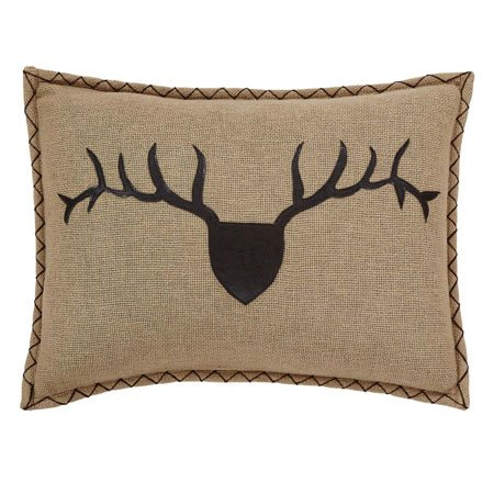 "Dawson Star Trophy Head Filled Pillow Applique 14""x18"""