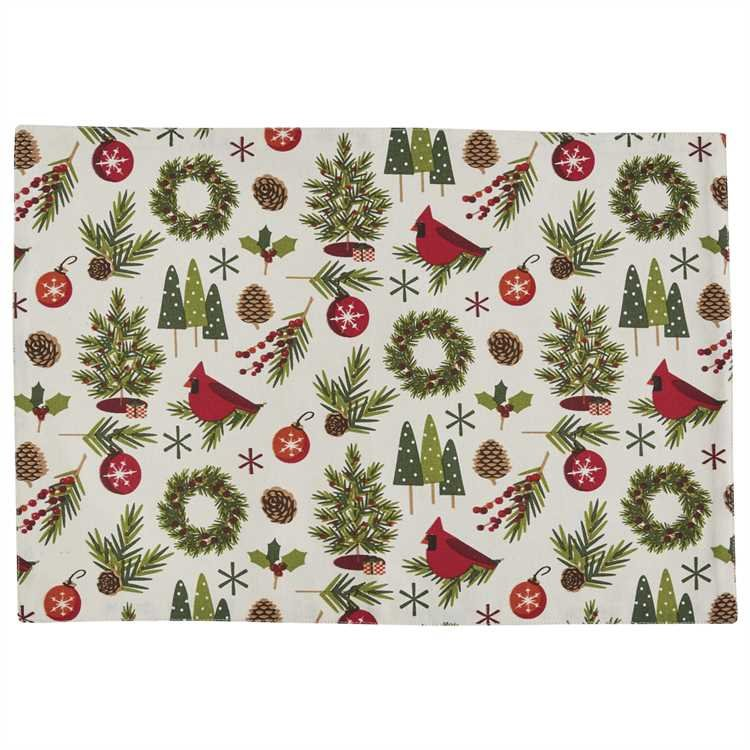 Christmas Greenery Placemat