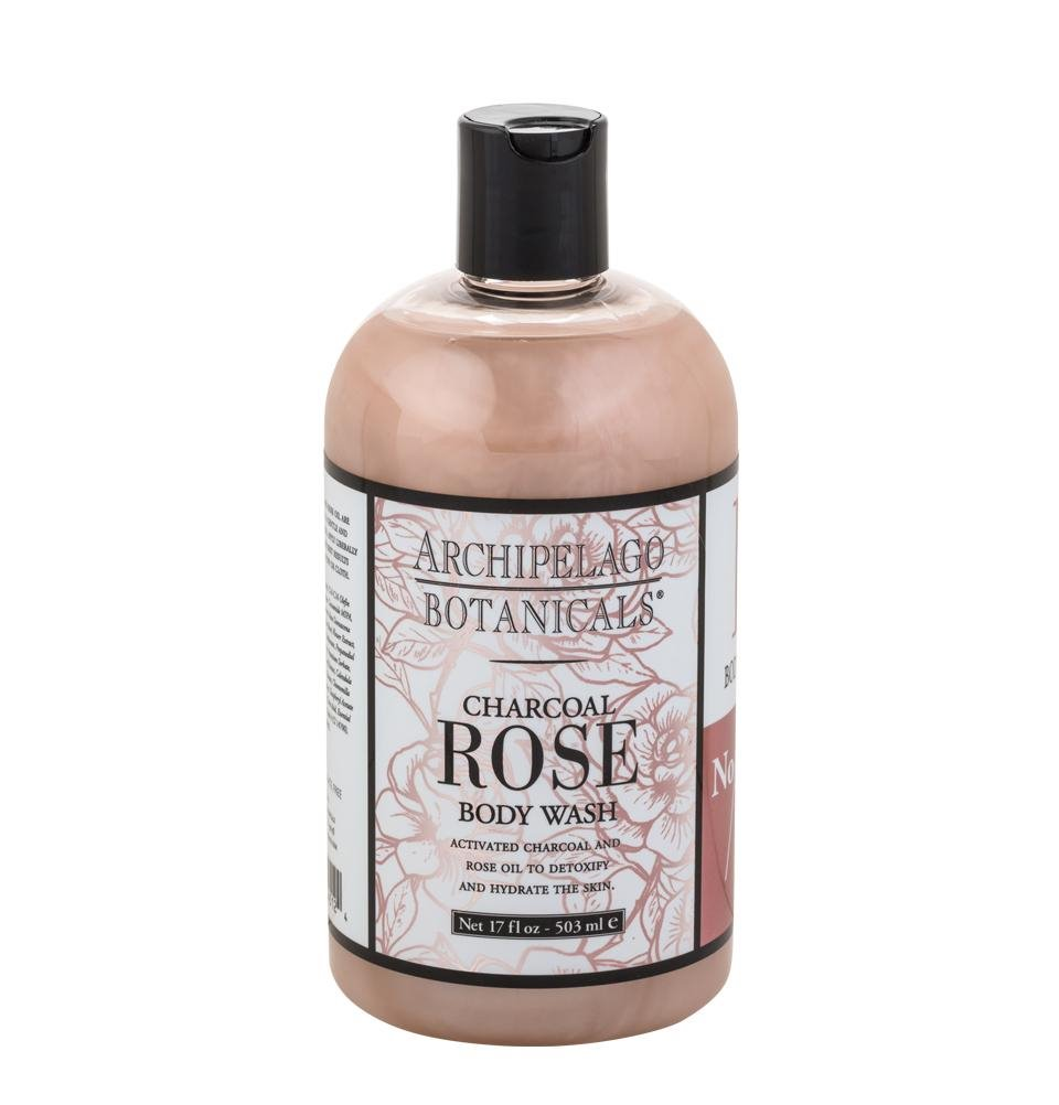 Archipelago Charcoal Rose Body Wash 17oz.