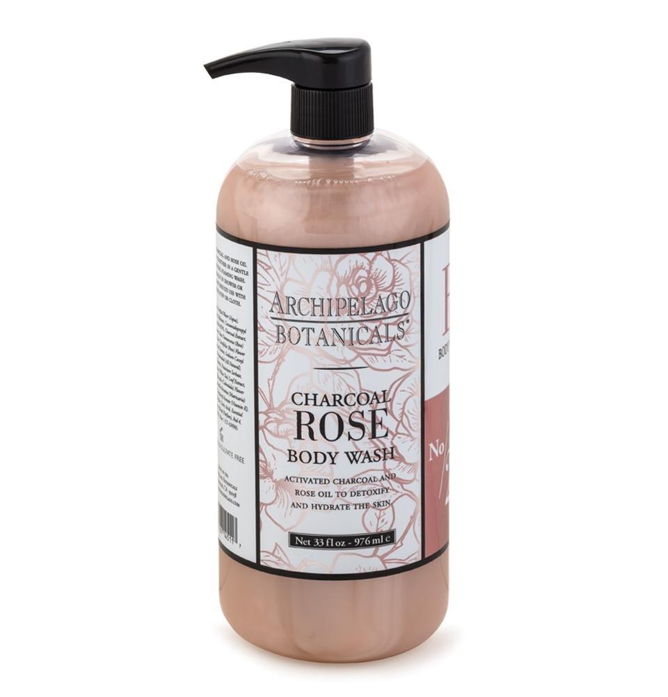 Archipelago Charcoal Rose Body Wash 33 oz.