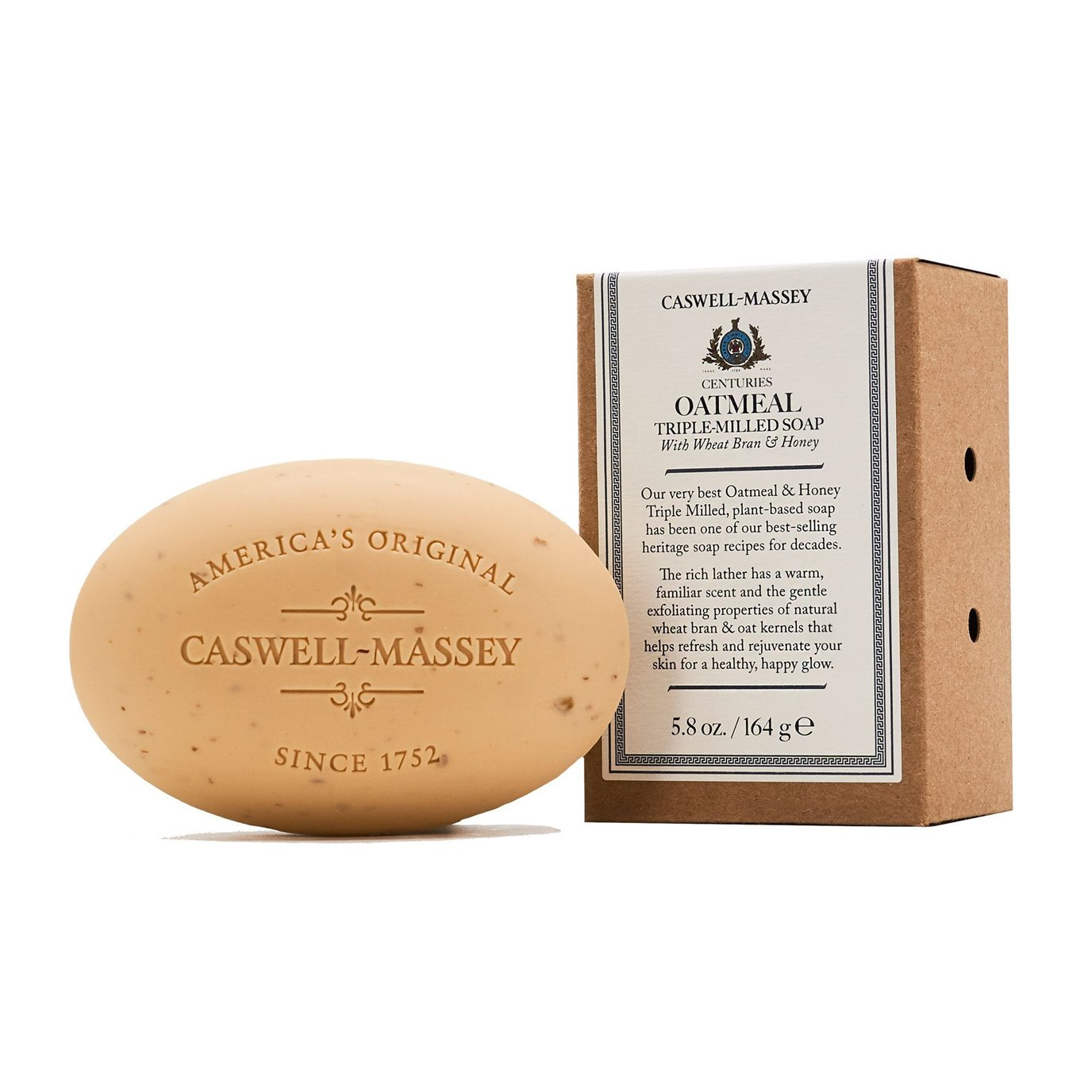 Caswell-Massey Oatmeal and Honey Single Soap (5.8 oz)