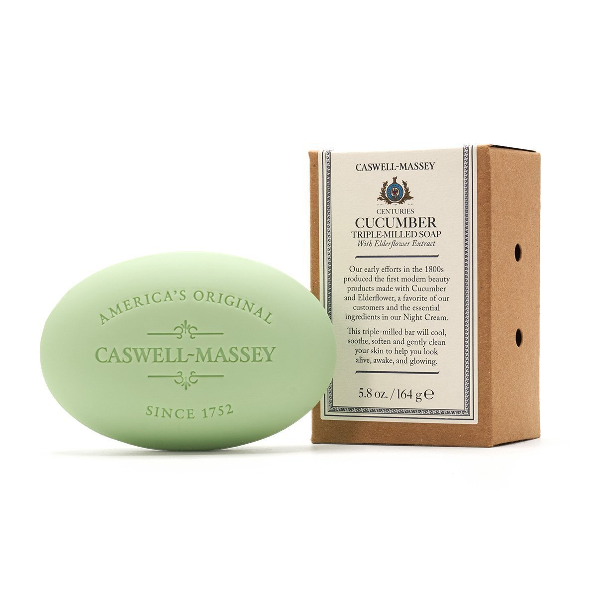 Caswell-Massey Cucumber and Elderflower Single Soap (5.8 oz)