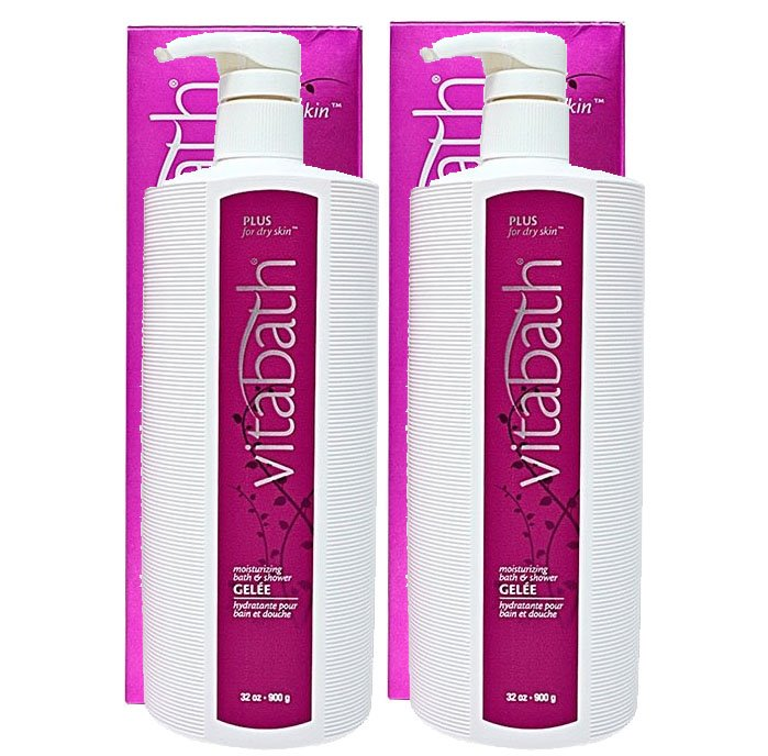 Vitabath Plus for Dry Skin Moisturizing Bath & Shower Gelee 2 Pack (2 x 32 oz)
