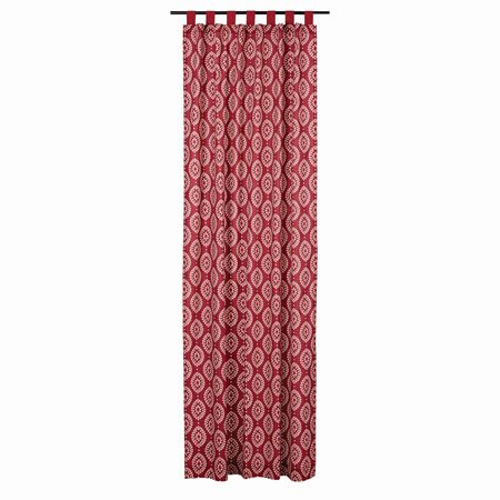 "Paloma Crimson Tab Top Panel 108""x50"""