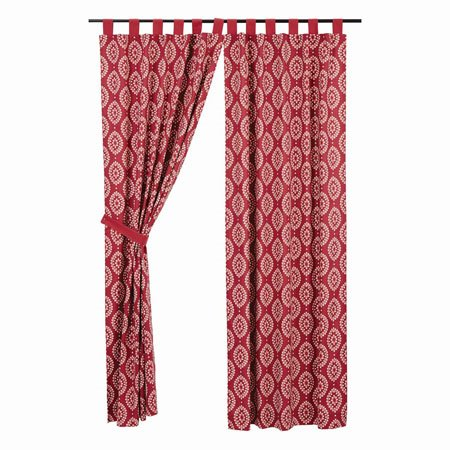 "Paloma Crimson Tab Top Panel Set of 2 84""x40"""