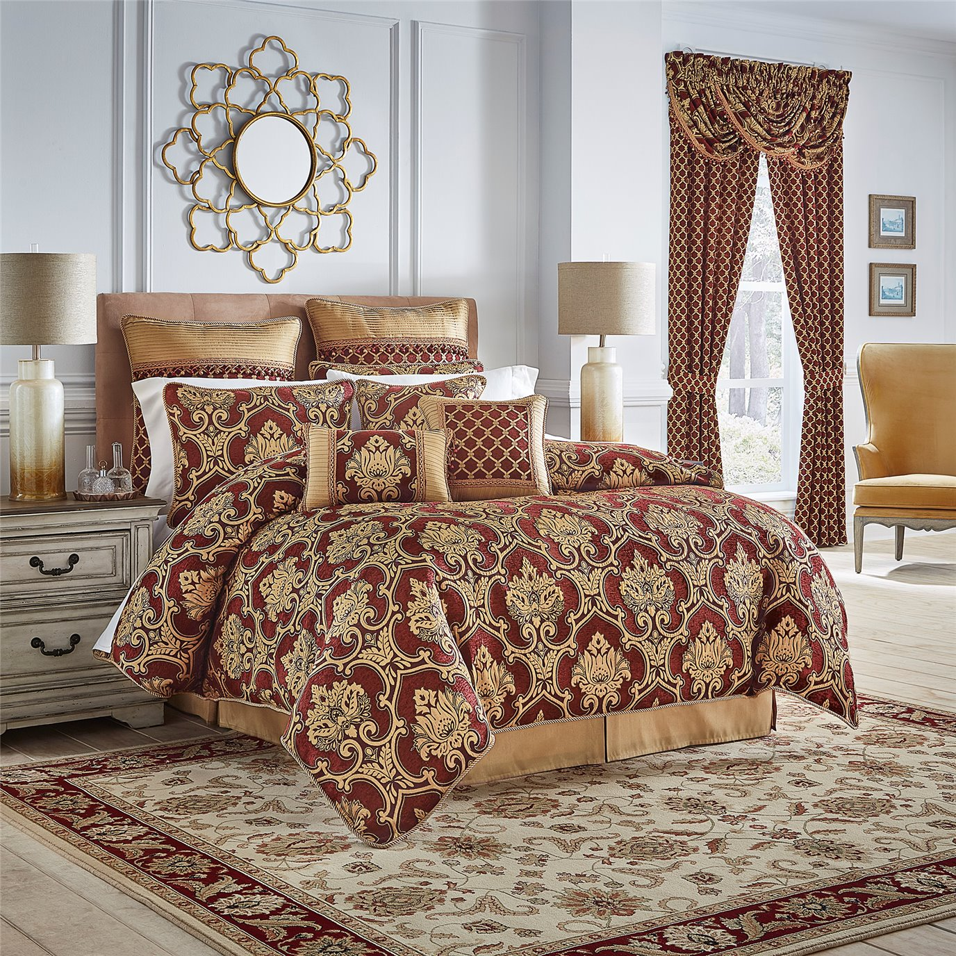 Gianna Queen 4 Piece Comforter Set By Croscill