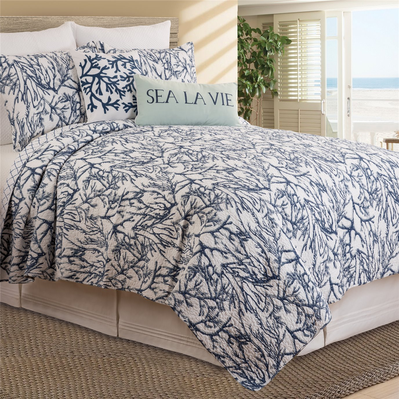 Oceanaire 2 Piece Twin Quilt Set