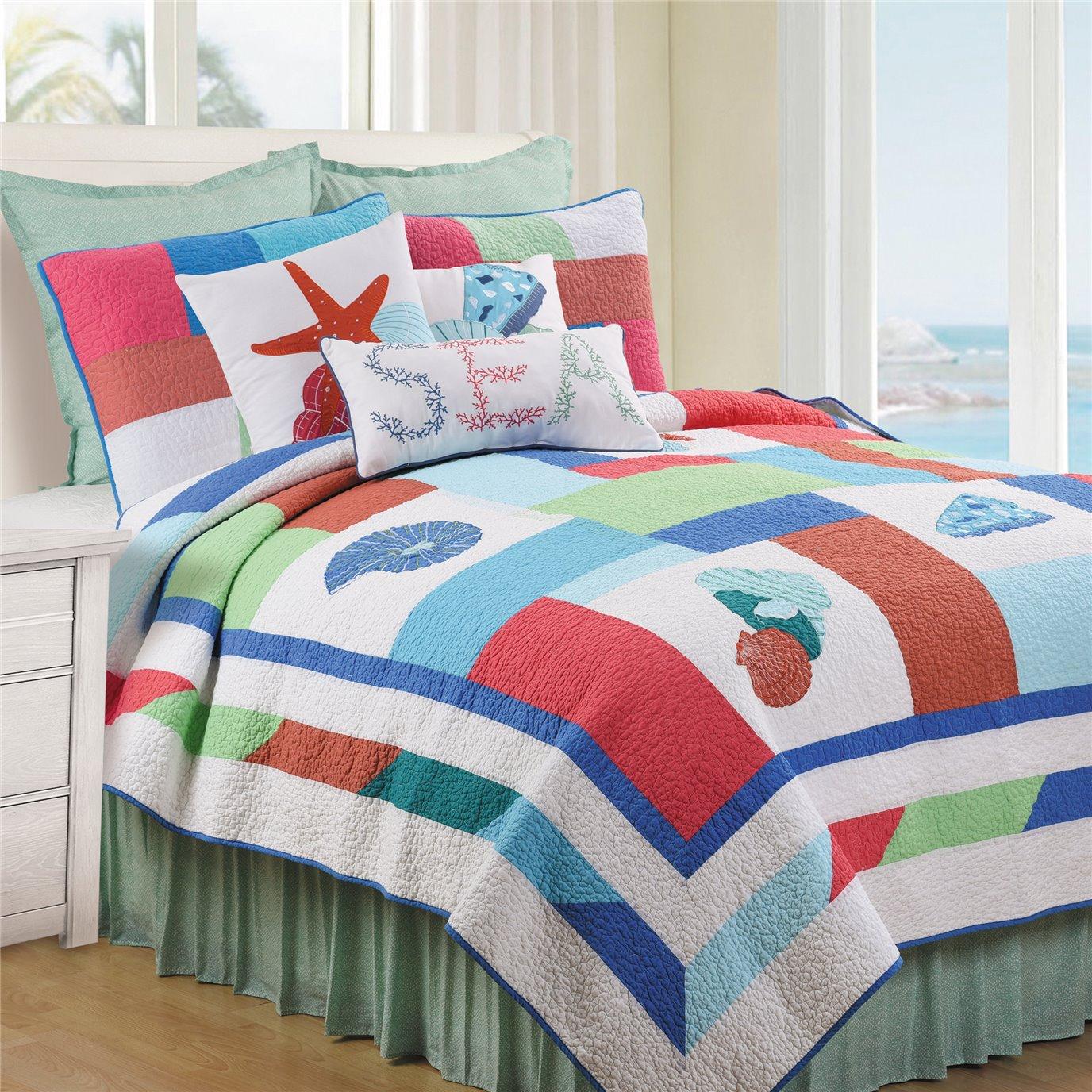 Antigua Bay 2 Piece Twin Quilt Set