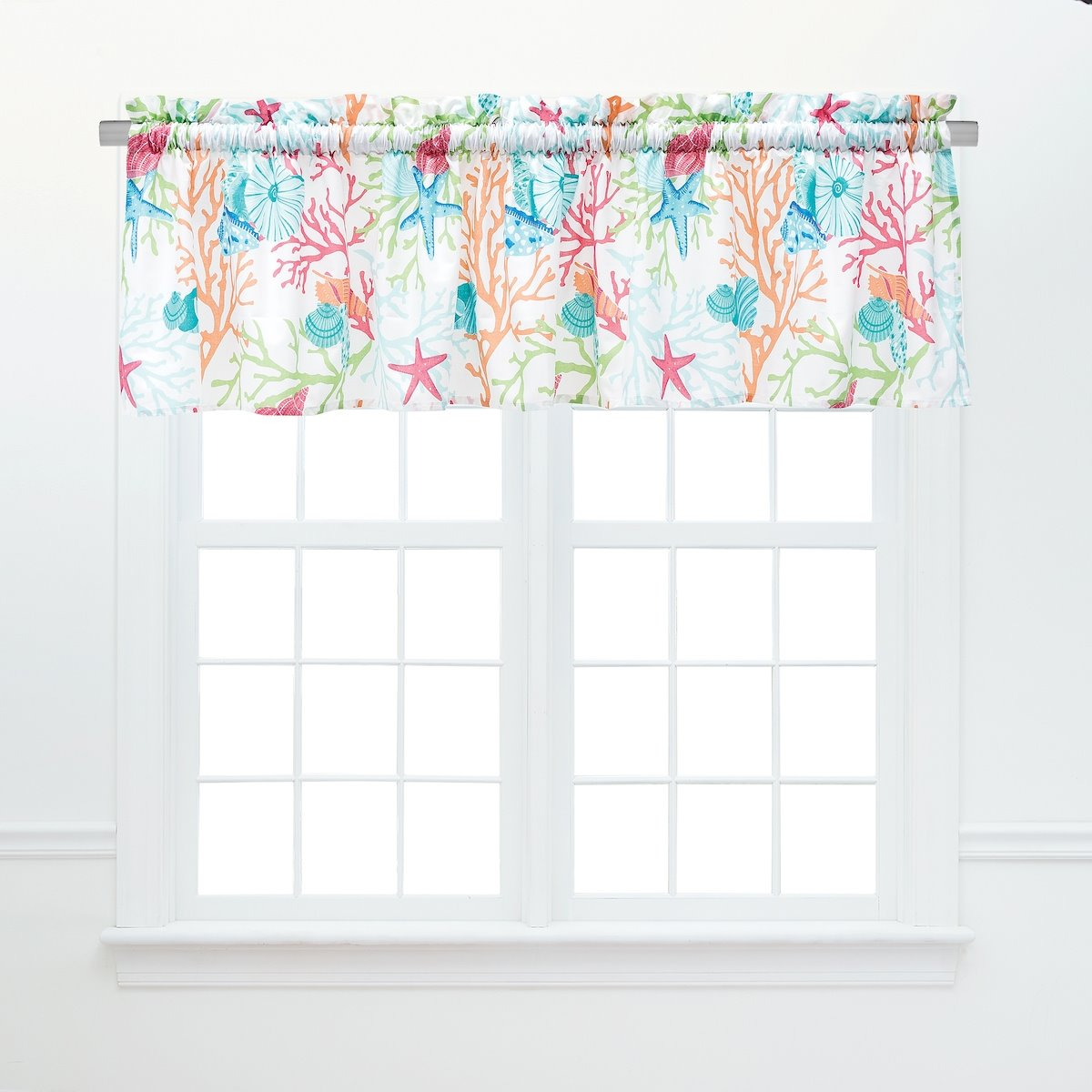 Caribbean Splash Unlined Valance