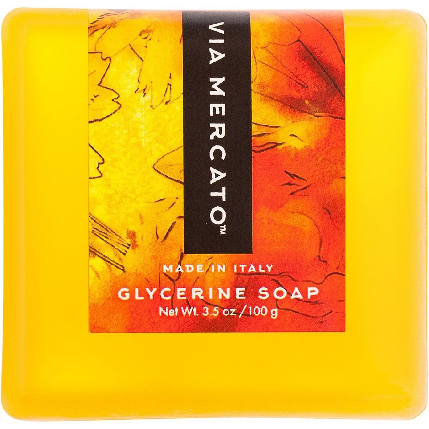 Via Mercato Bella Loquat, Peach, and Mandarin Glycerin Soap 100 g