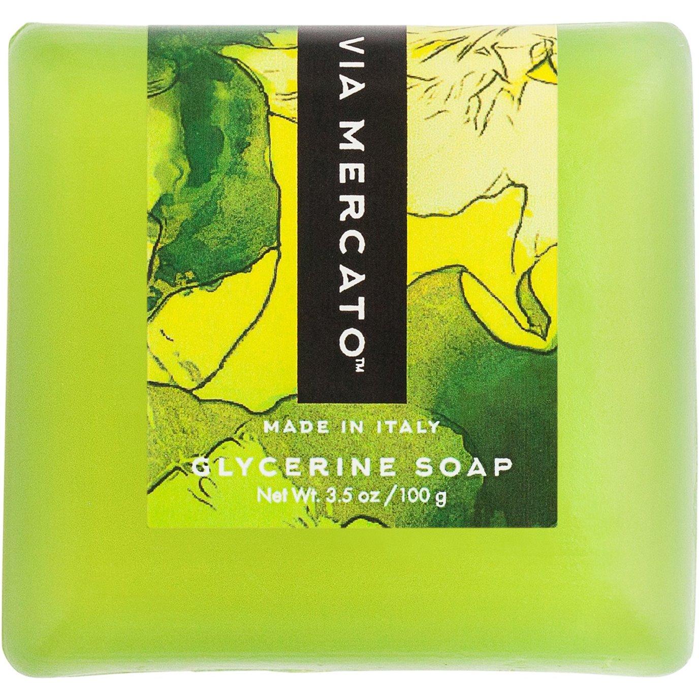 Via Mercato Bella White Cyclamen, Berries, and Vanilla Glycerine Soap - 100 g