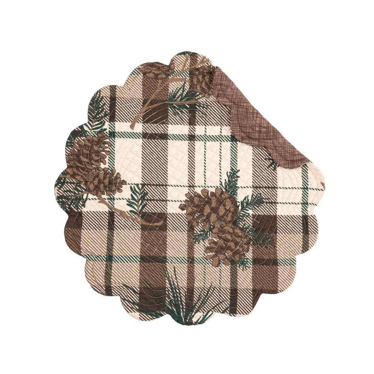 Lookout Lodge Round Quilted Placemat