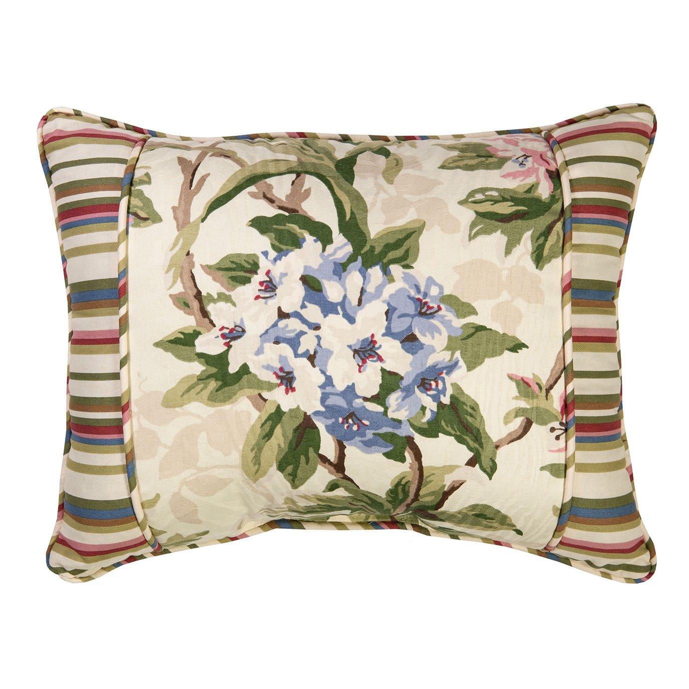 Hillhouse Breakfast Pillow - with stripe border
