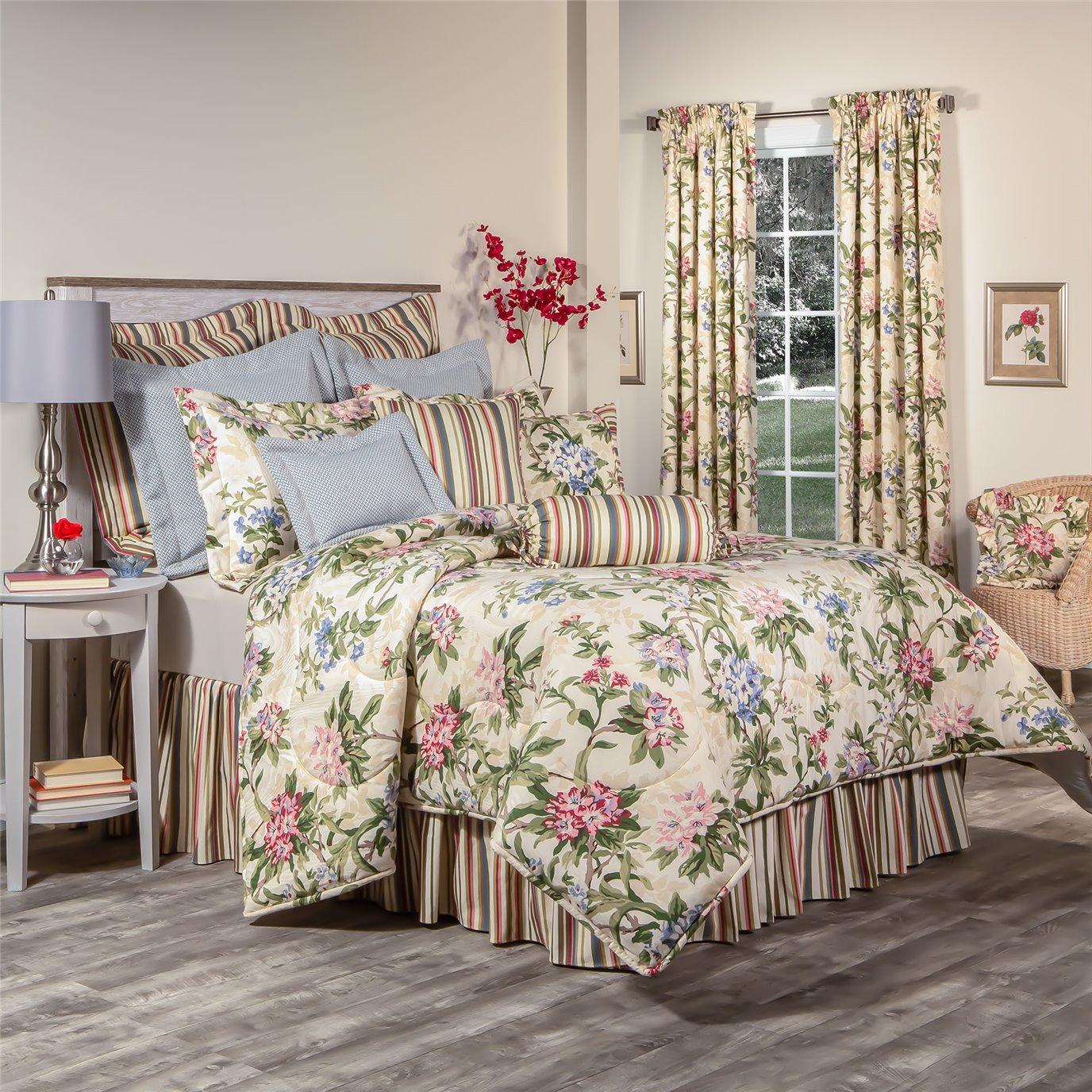 """Hillhouse Full Comforter Set with 15"""" Bed Skirt"""