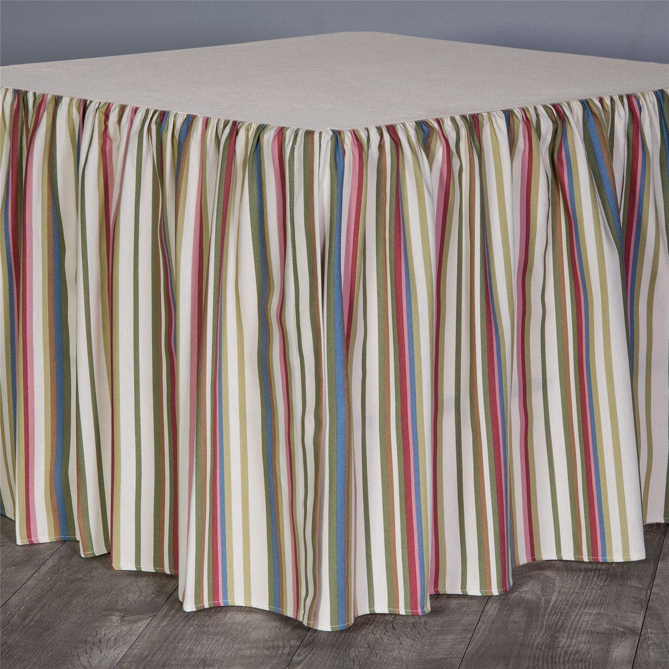 """Hillhouse Stripe Cal King 18"""" Bed skirt"""