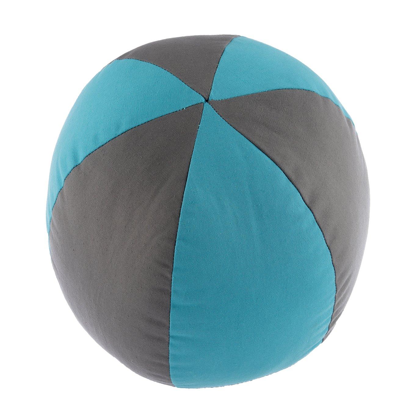 Seaside Treasures Caribbean Beach Ball Pillow - Grey/Peacock
