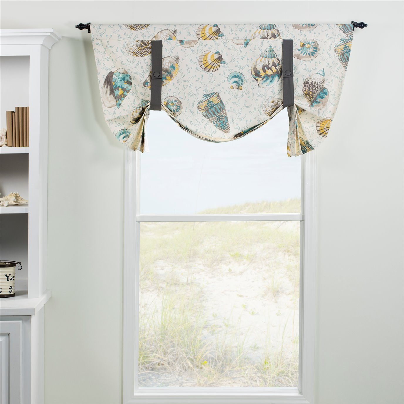 Seaside Treasures Caribbean Tie Up Curtain