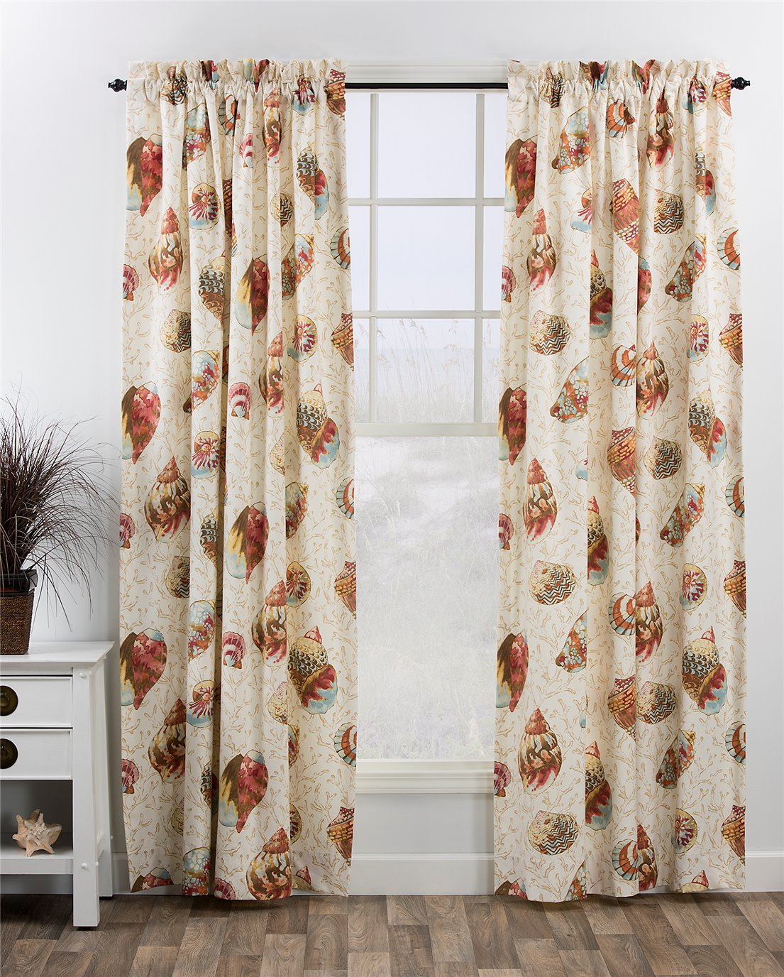 seaside treasures sand 100 x 84 pr rod pocket curtains by thomasville home fashions. Black Bedroom Furniture Sets. Home Design Ideas