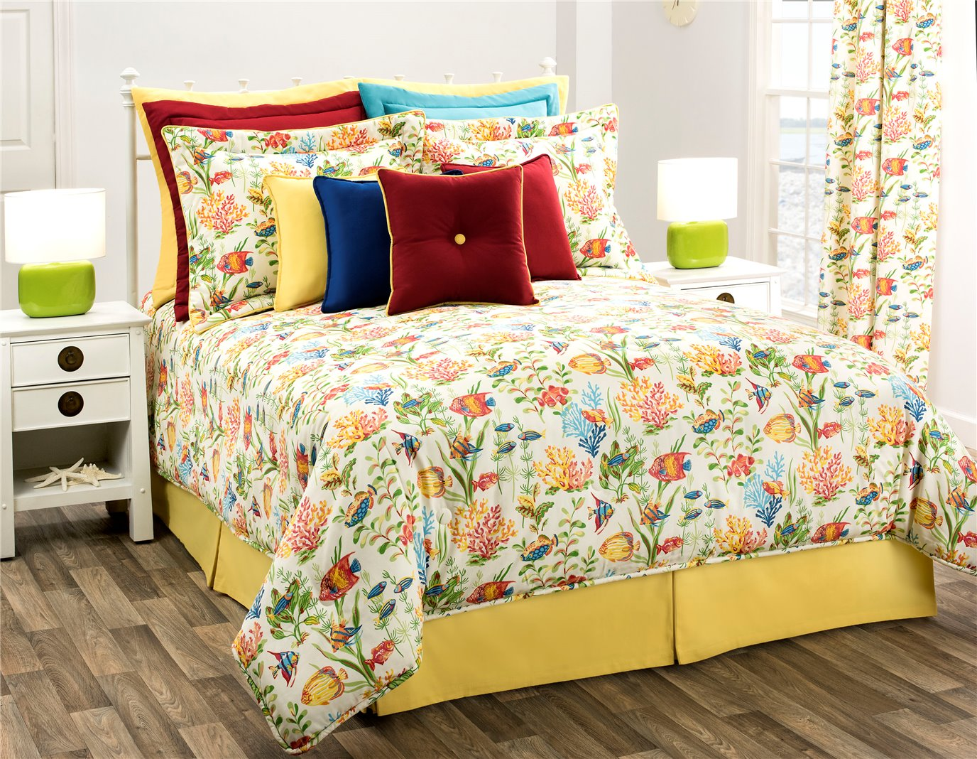 """West Bay Cal King Comforter Set with 18"""" Bed Skirt"""
