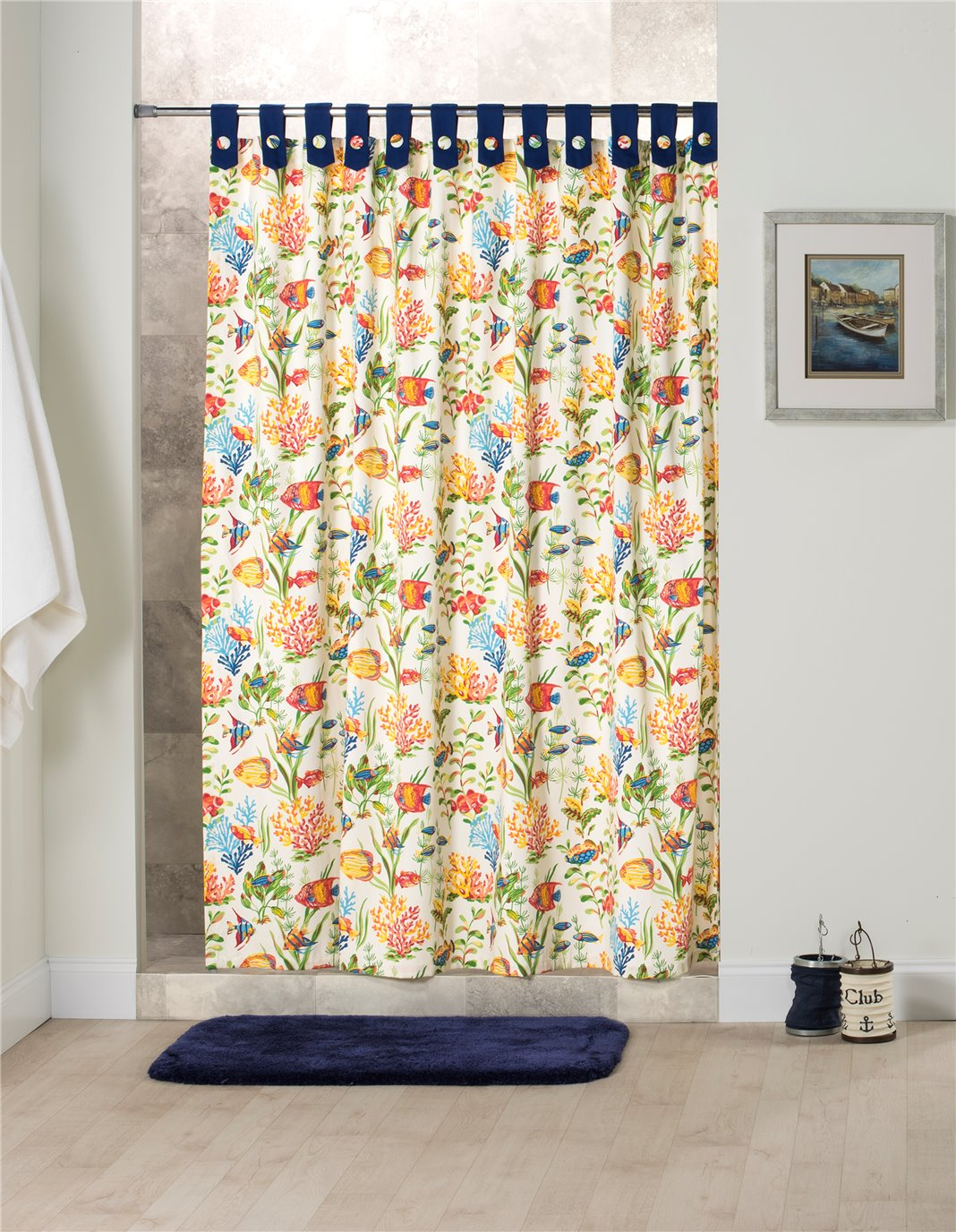West Bay Tab Shower Curtain