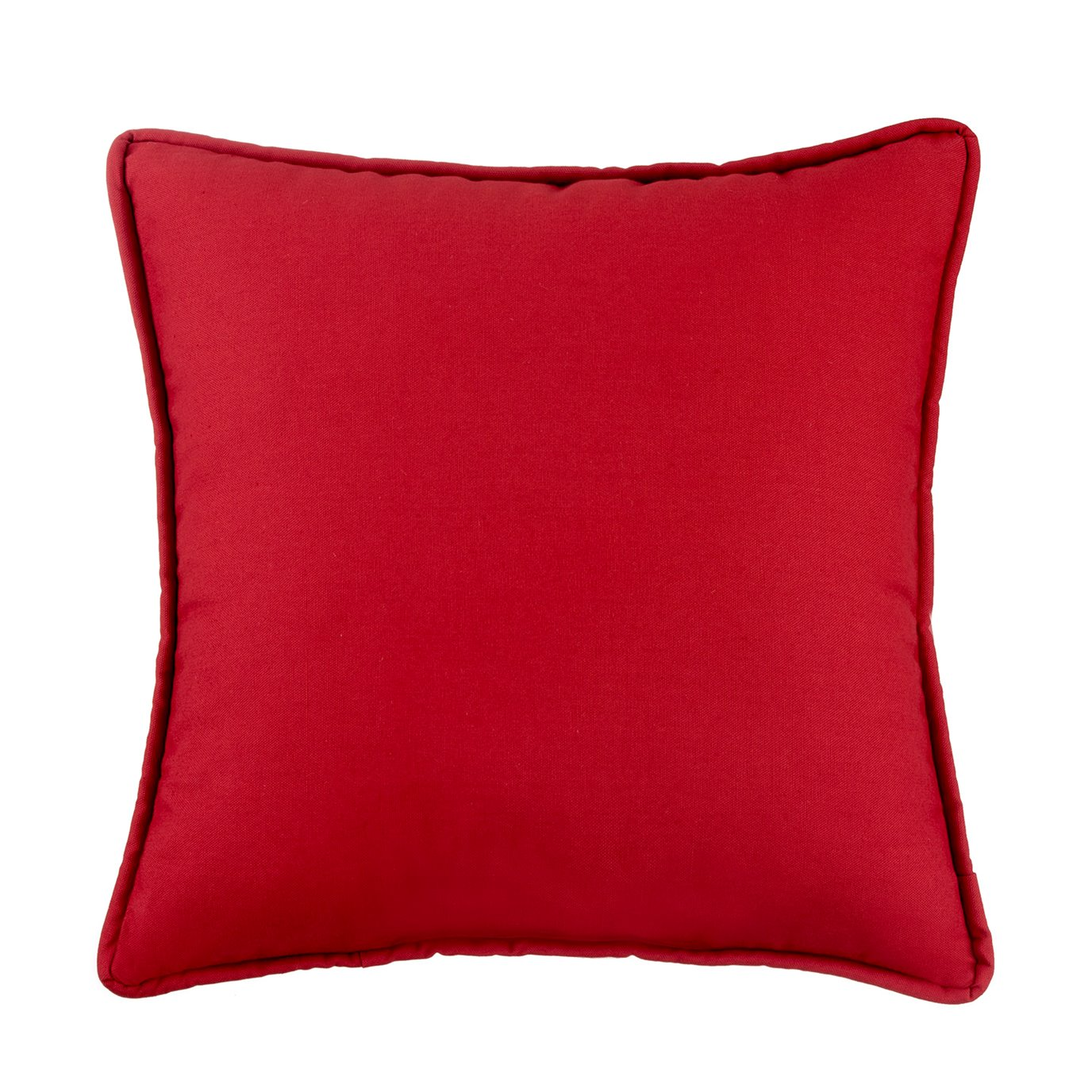 West Bay Solid Square Pillow - Red