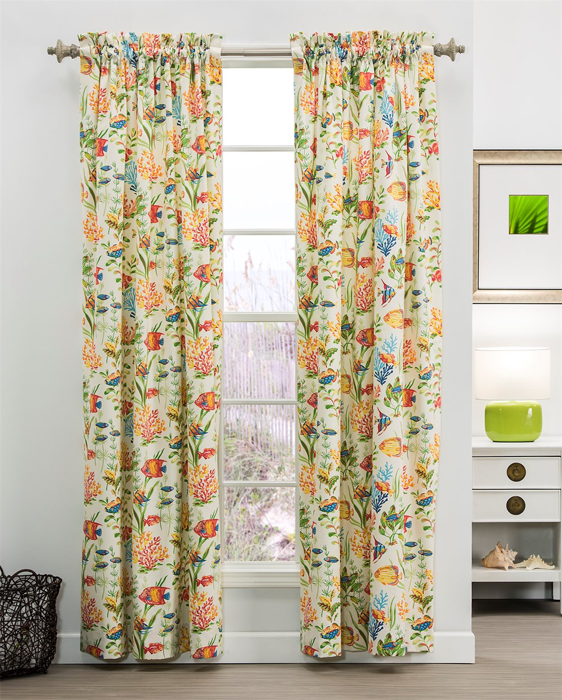 "West Bay 100"" x 84"" (Pr) Rod Pocket Curtains"