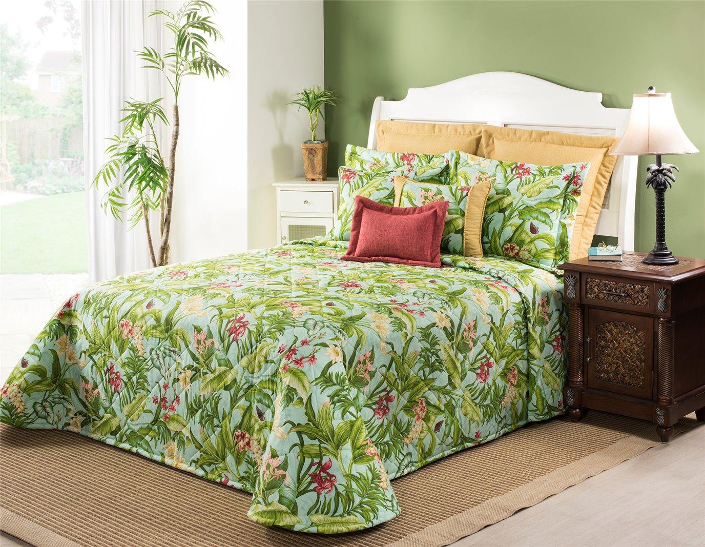 Wailea Coast Bloom Bedspread-Twin