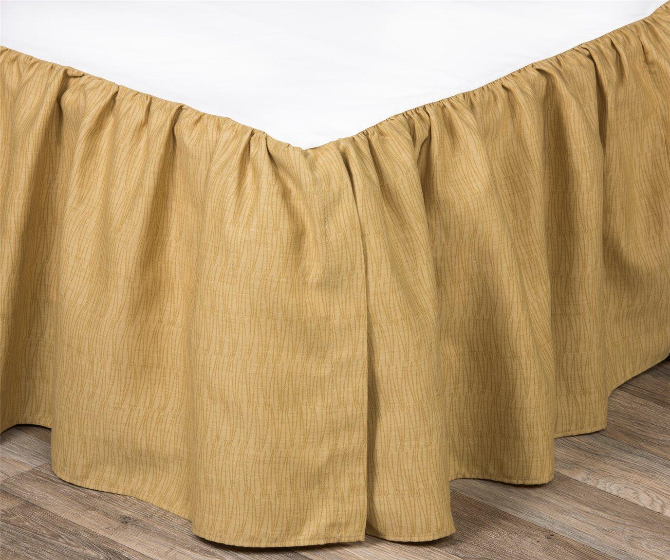 """Wailea Coast Bloom Bed Skirt-Queen 15"""" drop"""