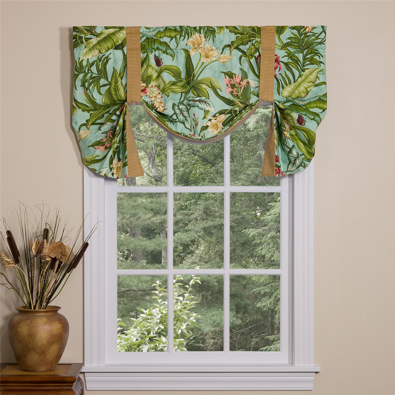 Wailea Coast Bloom Tie Up Curtain