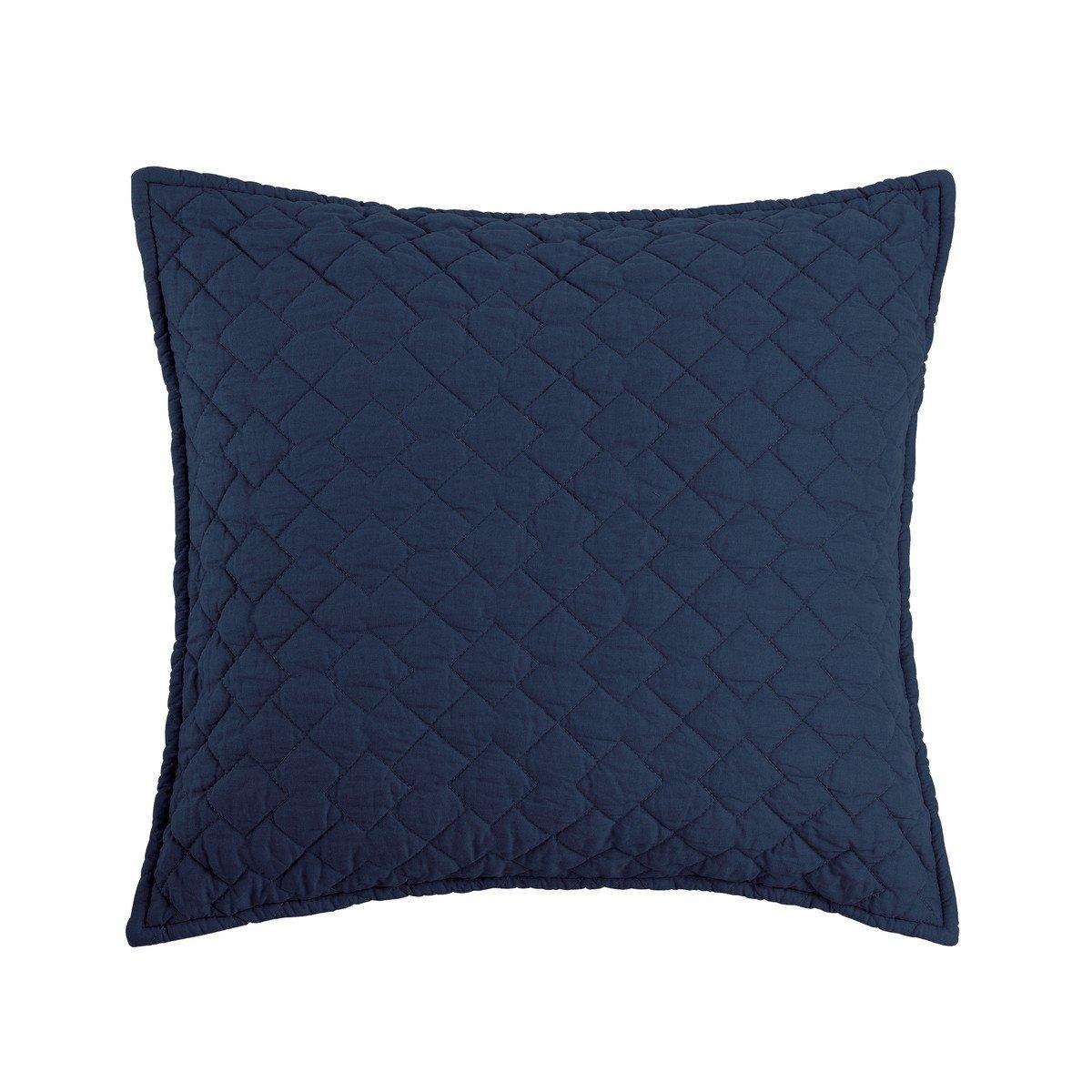 Regent Indigo Quilted Pillow