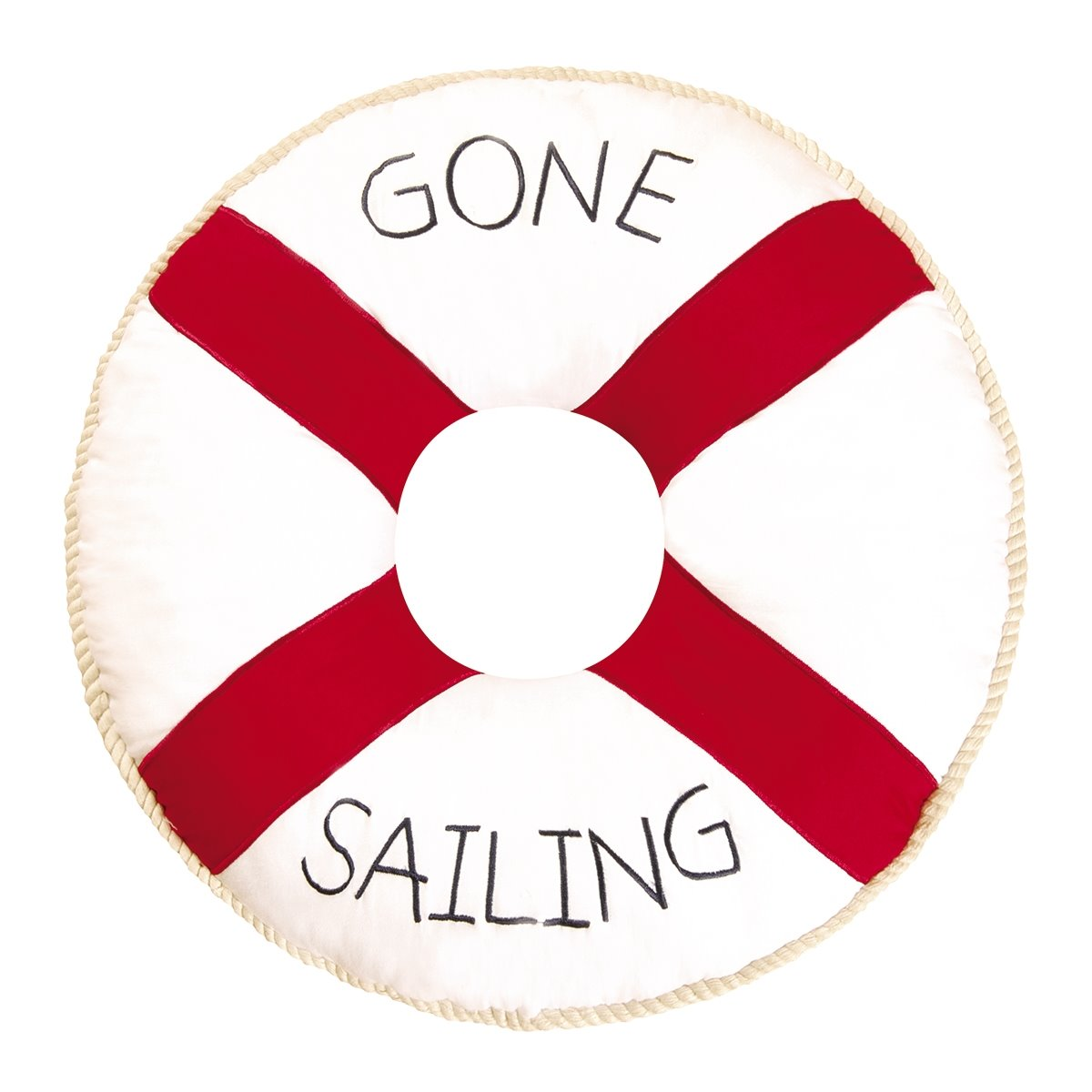 Gone Sailing Quilted Pillow