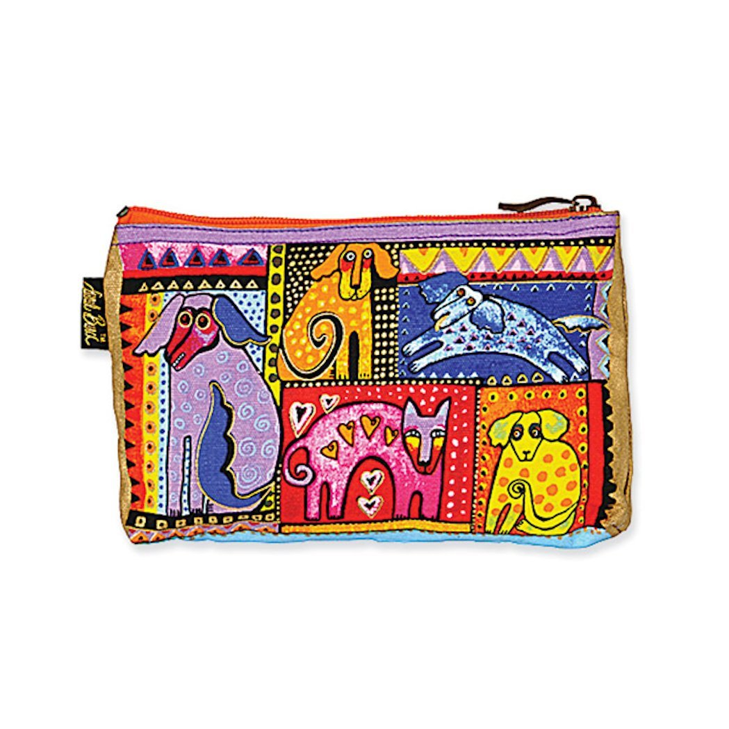 Laurel Burch Dog Tales Cosmetic Bag - multicolor