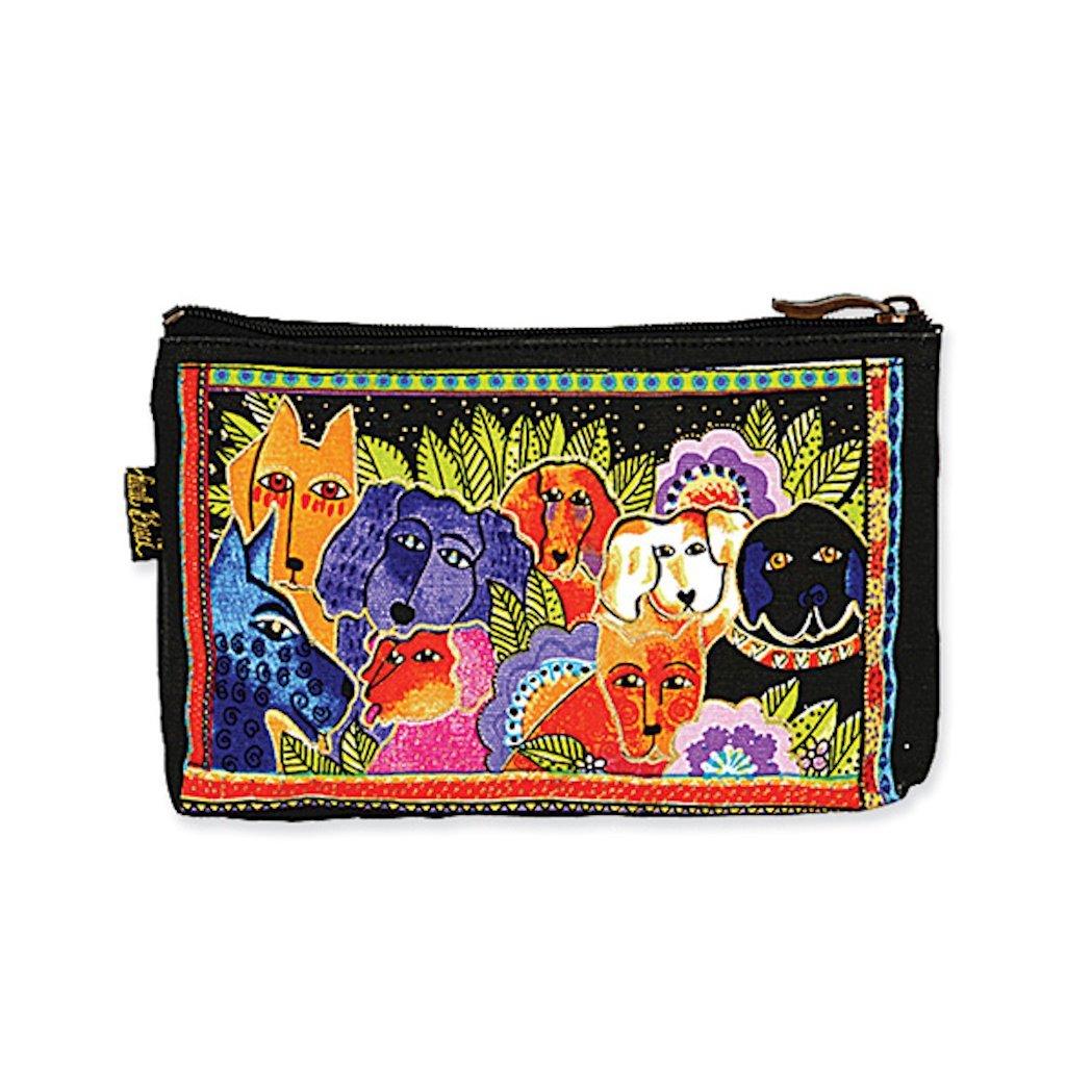 Laurel Burch Dog Tales Cosmetic Bag - tropical