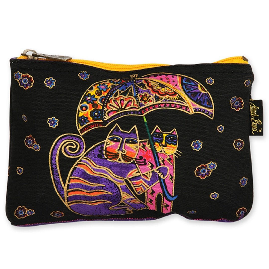 Laurel Burch Feline Friends Cosmetic Bag - umbrella