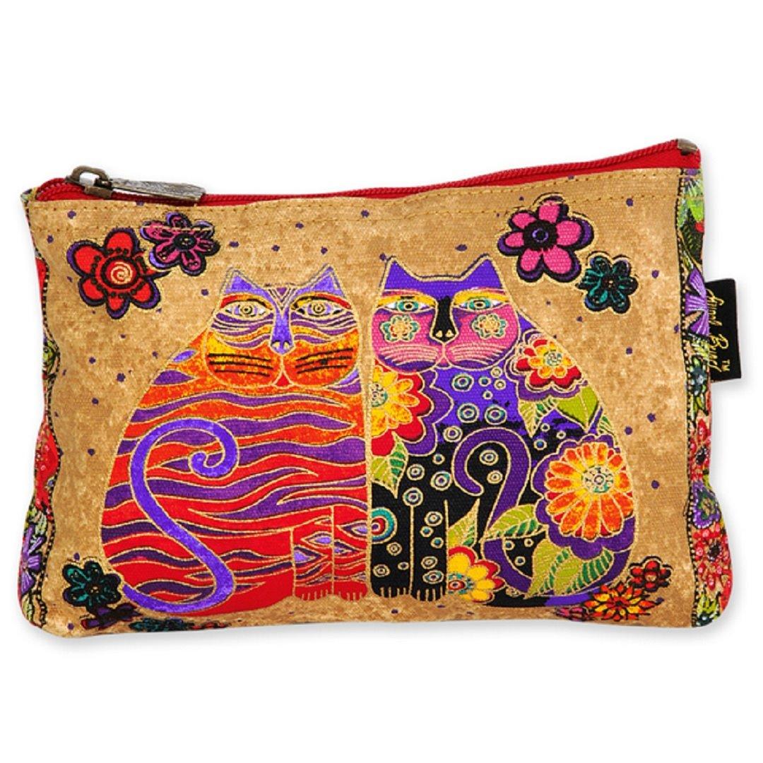 Laurel Burch Feline Friends Cosmetic Bag - flower child
