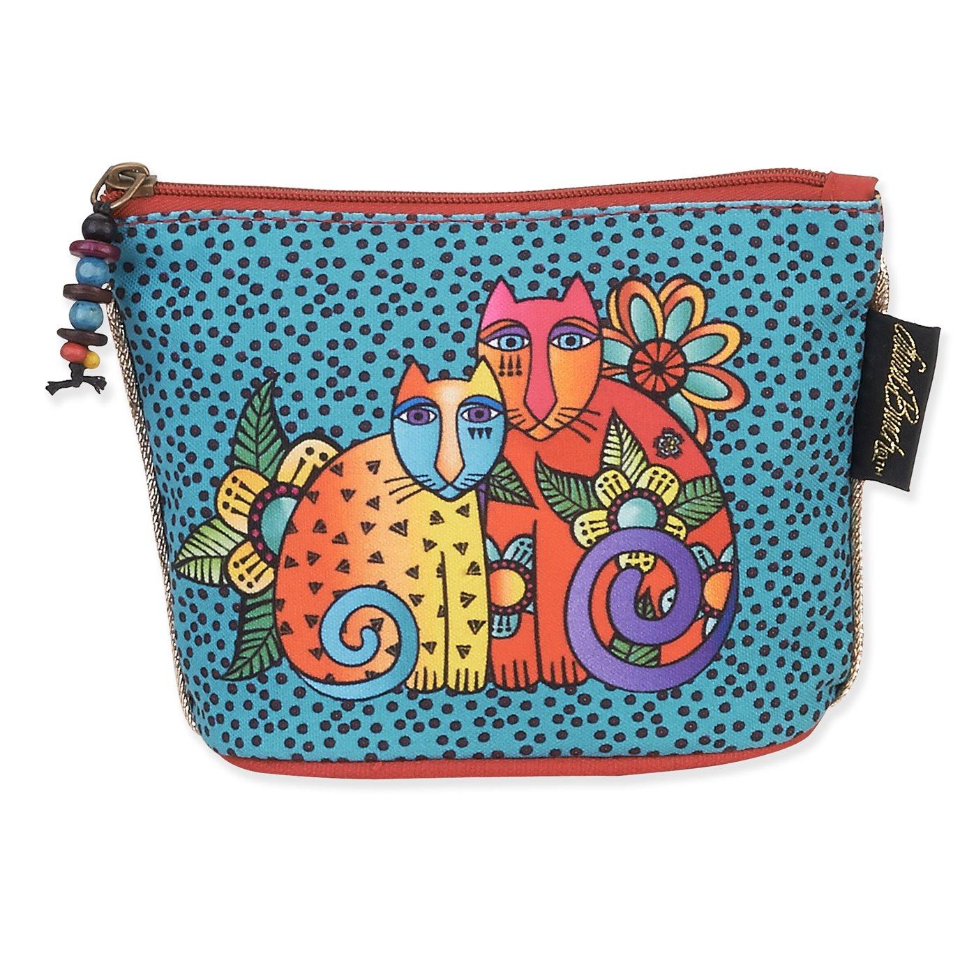 Laurel Burch Feline Mini Cosmetic Bag - polkadot