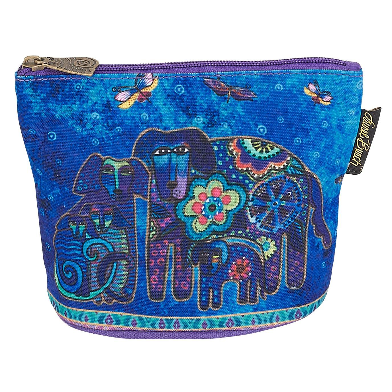 Laurel Burch Canine Friends Mini Cosmetic Bag - royal blue