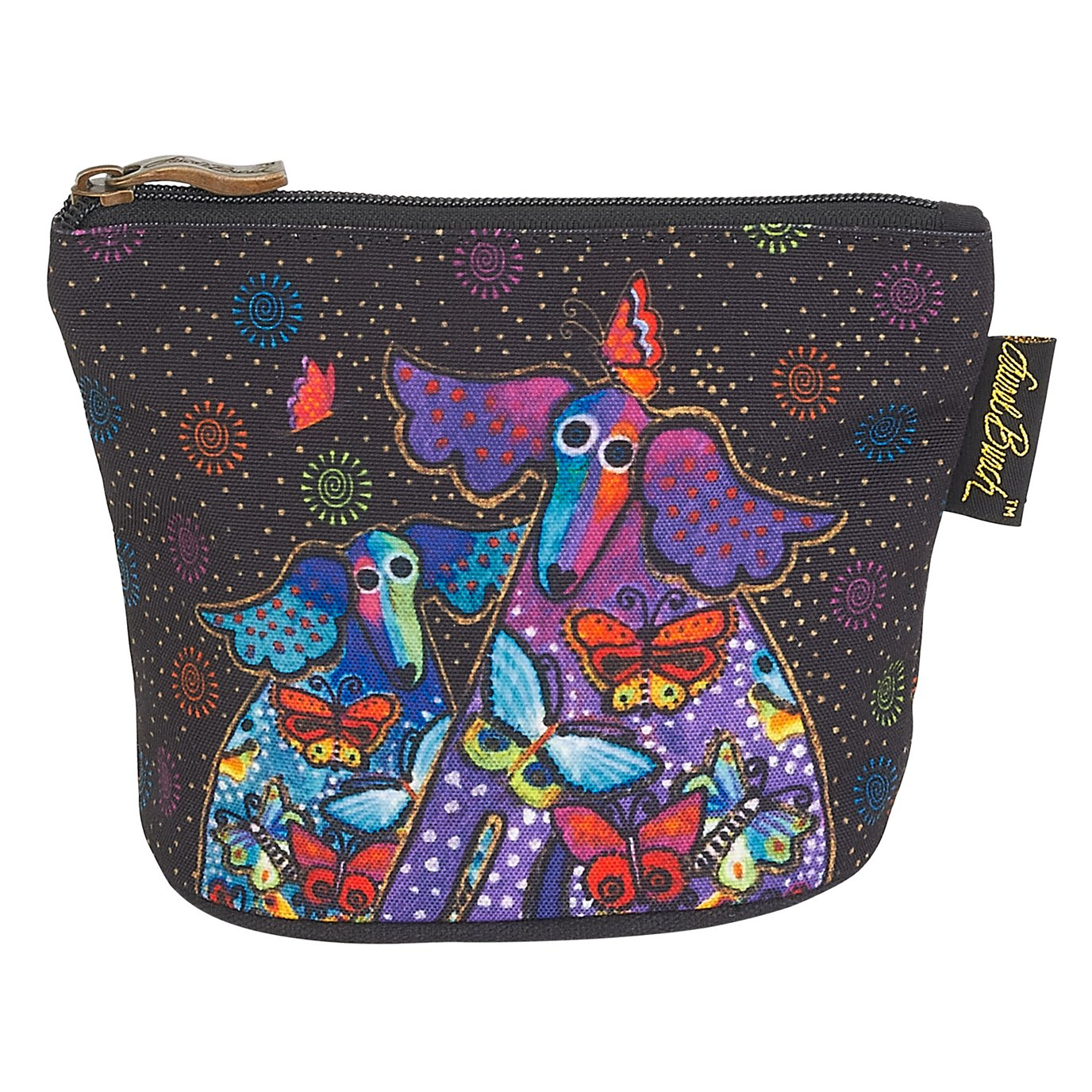 Laurel Burch Canine Friends Mini Cosmetic Bag - butterflies