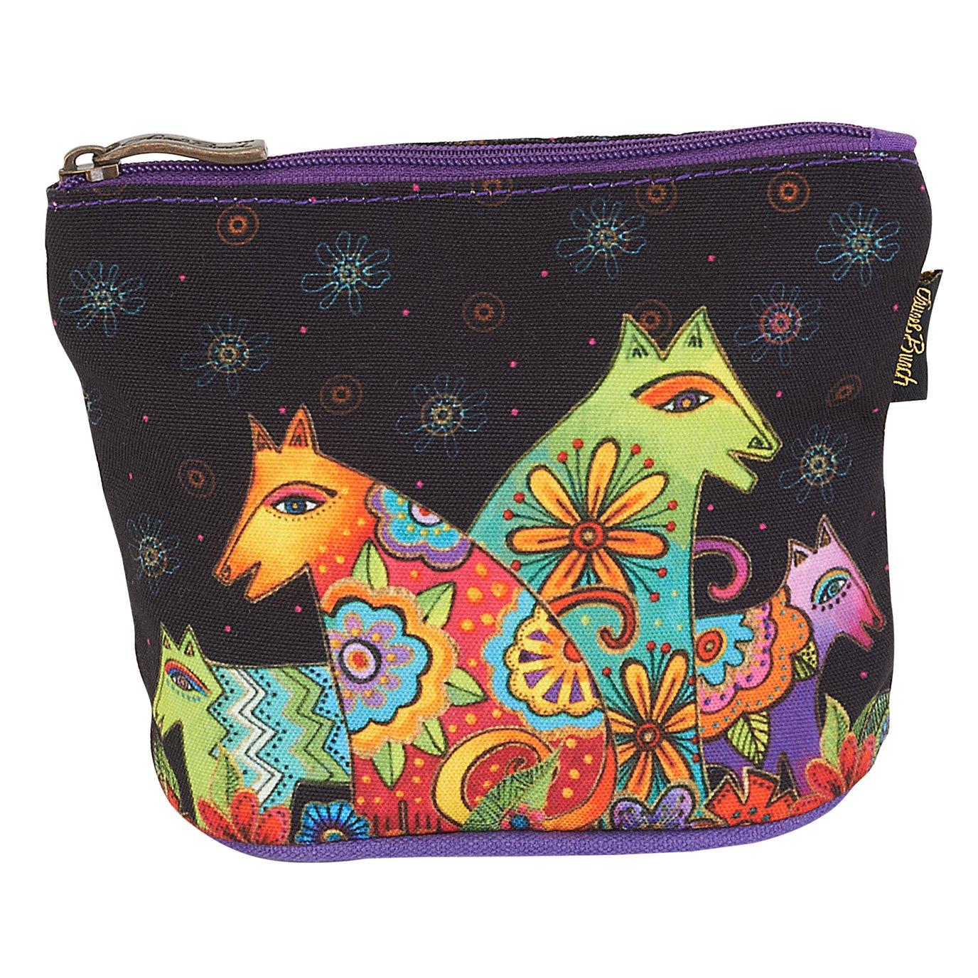 Laurel Burch Canine Friends Mini Cosmetic Bag - black
