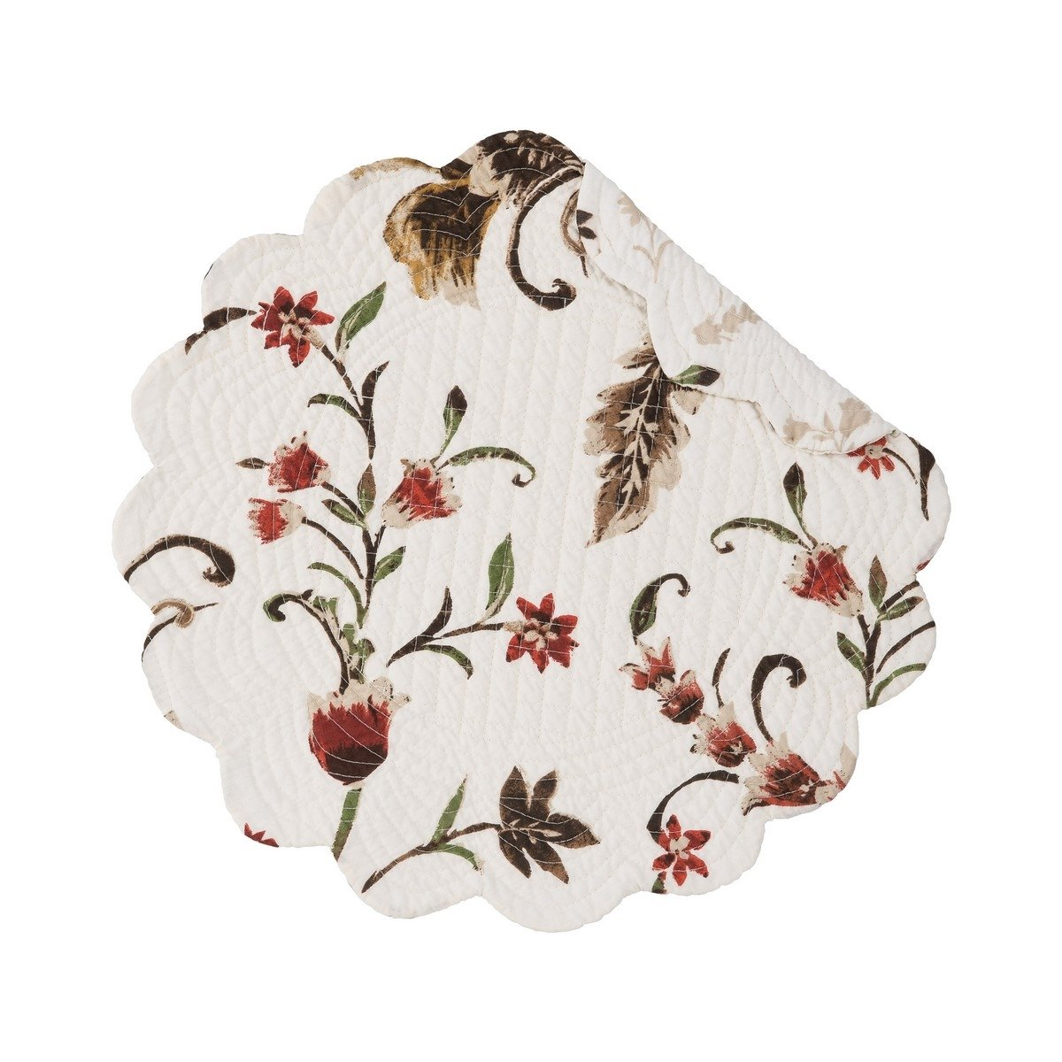 Autumn Bloom Round Quilted Placemat