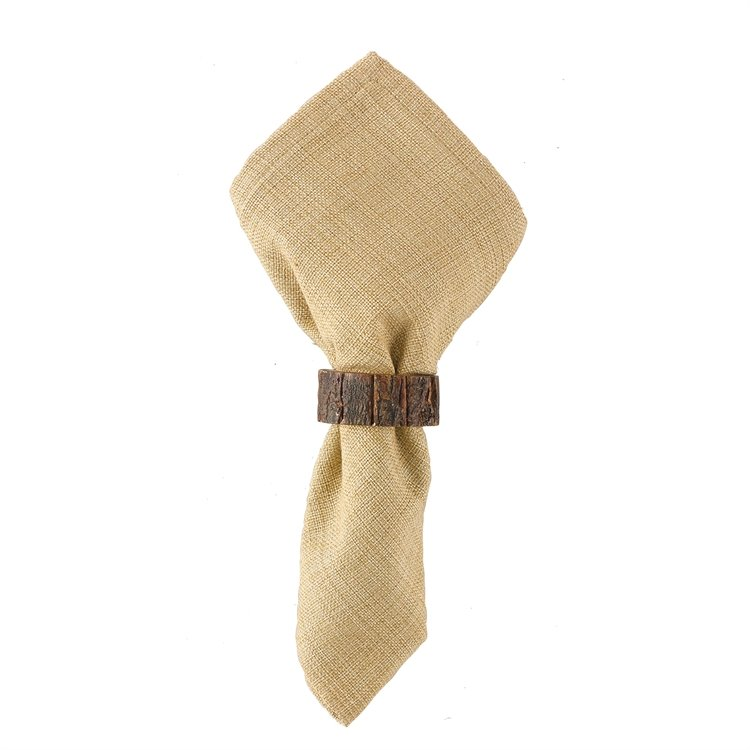 Bark Wood Napkin Ring