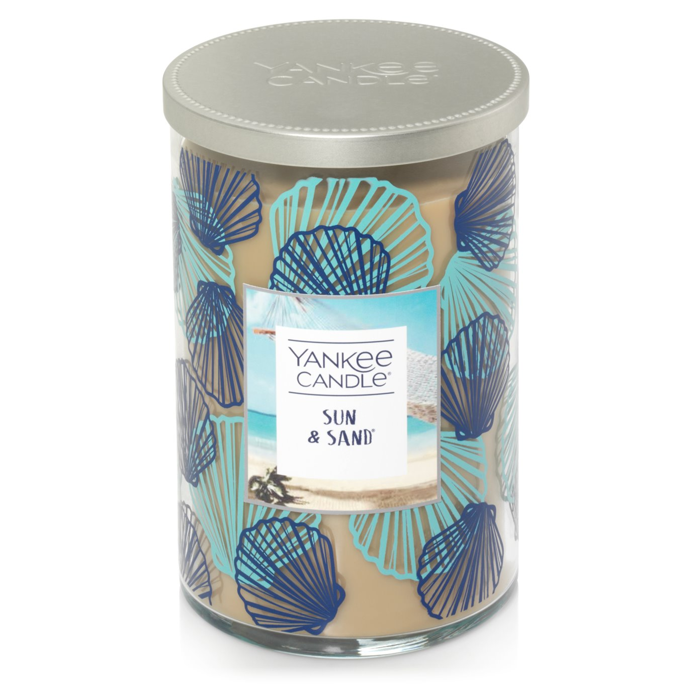 Yankee Candle Sun & Sand Large 2 Wick Cylinder Candle-Seashell