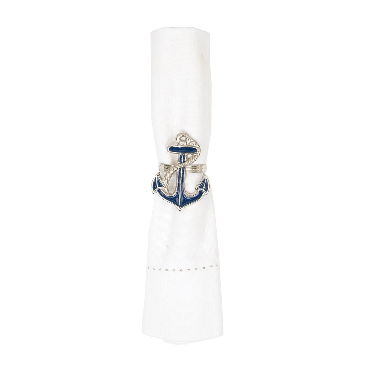 Anchor Enameled Napkin Ring