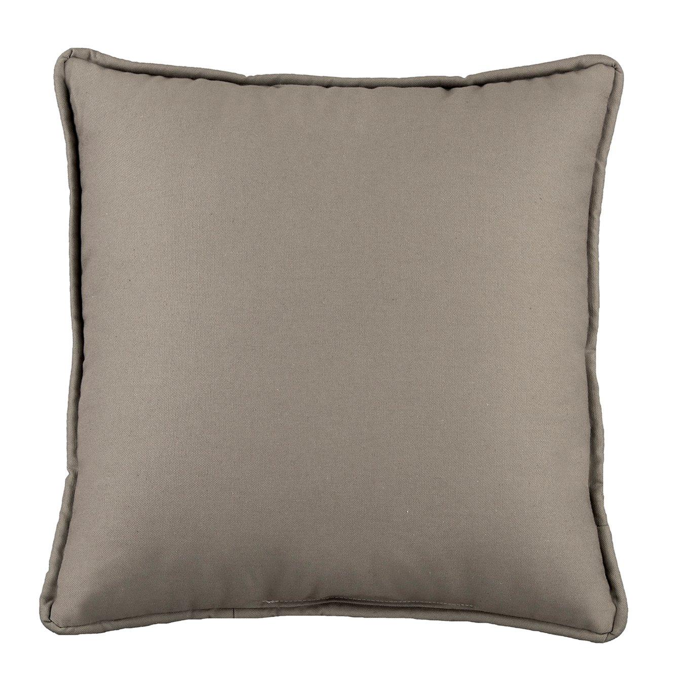Belmont Metal Gray Square Pillow