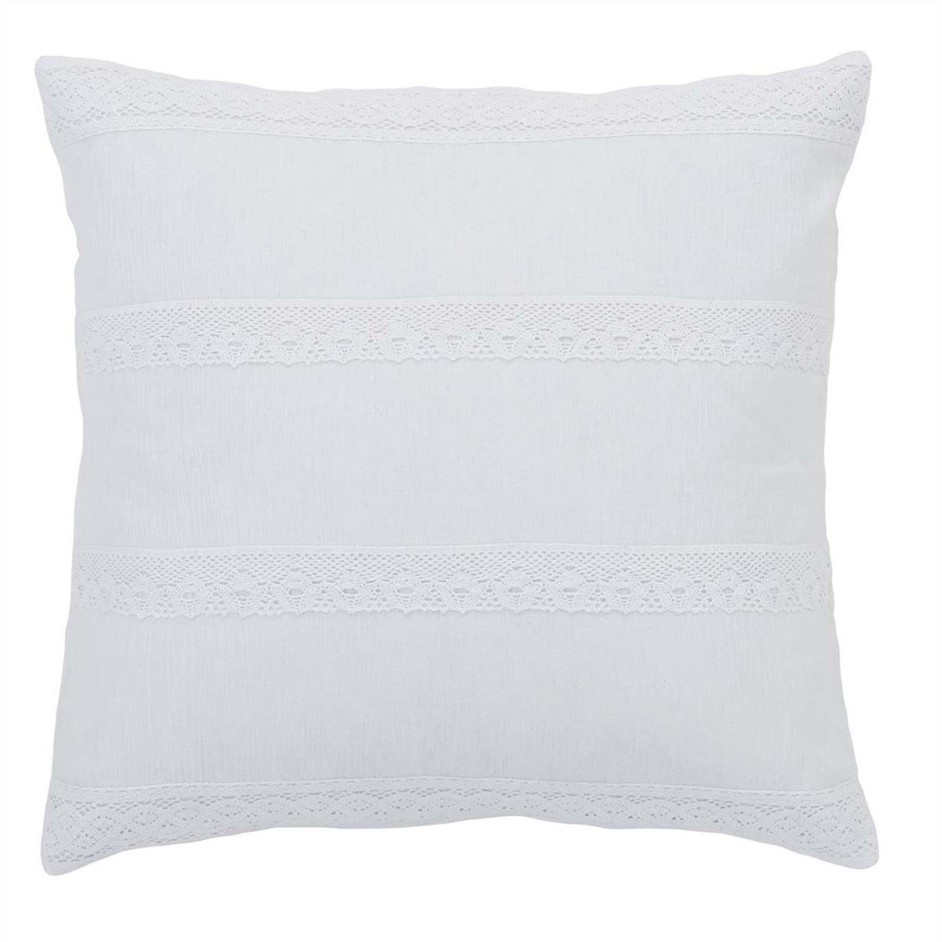 Quinn White Pillow Cover 18x18